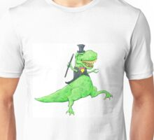 T-Rex in Top Hat and Tails Unisex T-Shirt