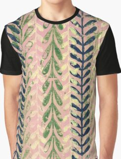 Vine Pattern - Pink Graphic T-Shirt