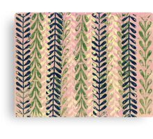 Vine Pattern - Pink Canvas Print