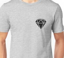 Black Marble Diamond  Unisex T-Shirt