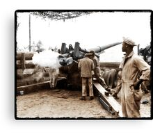 African American Soldiers WWII Canvas Print