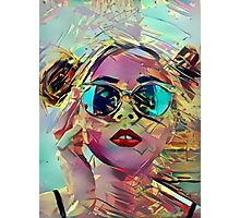 The Girl in Sunglasses Photographic Print