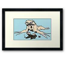 No-Caf Sloth Framed Print
