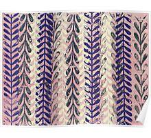 Vine Pattern - Pink 2 Poster