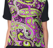 PAISLEY PURPLES Chiffon Top