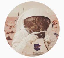 Astronaut Cat on Mars Kids Tee