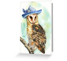 Strange Barn Owl Greeting Card