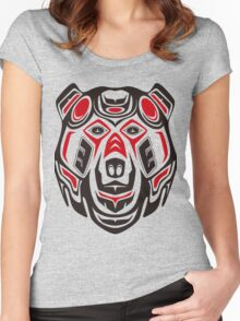 Haida style grizzly Women's Fitted Scoop T-Shirt