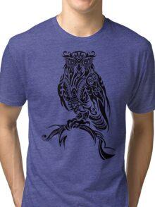 Tribal Owl Tri-blend T-Shirt