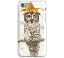 Strange Great Gray Owl iPhone Case/Skin