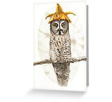 Strange Great Gray Owl Greeting Card