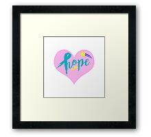 Hope Heart Framed Print