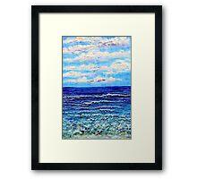 Green Sea Framed Print