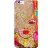 Abstract Blonde Bombshell, Marilyn Art iPhone Case/Skin