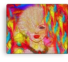 Abstract Blonde Bombshell, Marilyn Art Canvas Print