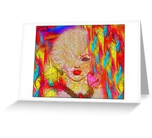 Abstract Blonde Bombshell, Marilyn Art Greeting Card