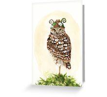 Strange Burrowing Owl Greeting Card