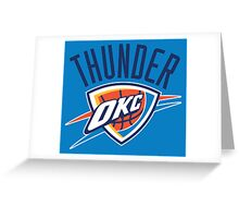 OKC Thunder Greeting Card