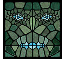 Kaiju face - Voronoi Photographic Print