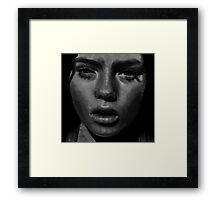 sultry model. Framed Print