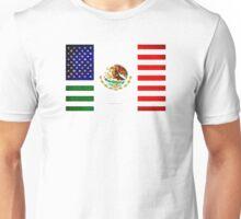 MEXICAN AMERICAN FLAG - 017 Unisex T-Shirt