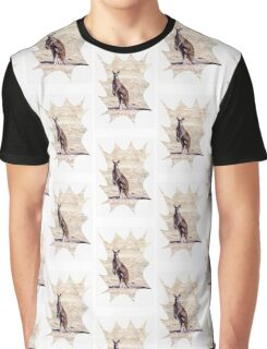 Kangaroo Watching Graphic T-Shirt