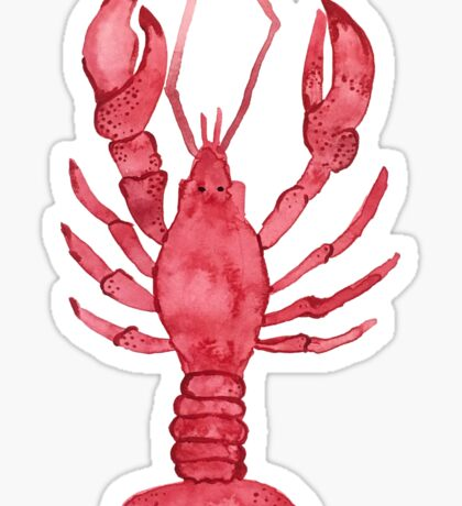 Lobster Watercolor Sticker