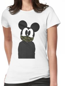 Hipster mickey Womens Fitted T-Shirt