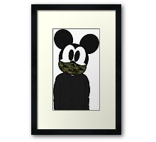 Hipster mickey Framed Print