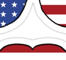 Patriotic Funny Face Sticker