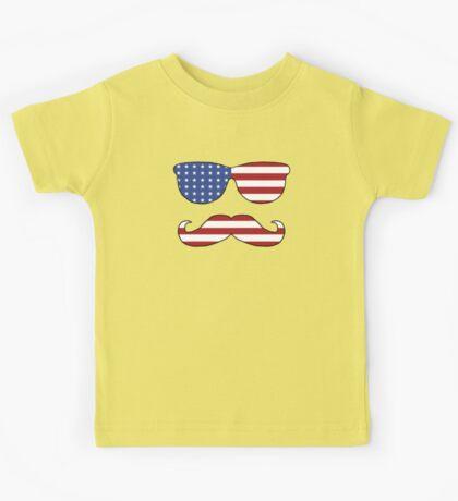 Patriotic Funny Face Kids Tee
