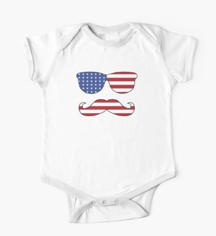 Patriotic Funny Face One Piece - Short Sleeve