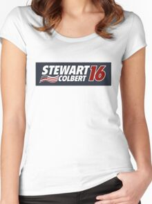 Stewart & Colbert 2016 Election Women's Fitted Scoop T-Shirt