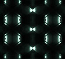Futuristic Dark Hexagonal Grid Pattern Design Sticker