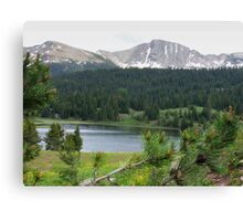 Lake in the Mountains Canvas Print