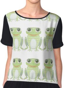 Happy Triplet Frogs Chiffon Top