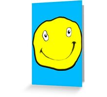 Happy Dumb Face Greeting Card
