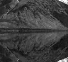 Mirror Reflection in Lake McDonald ~ Black & White Sticker