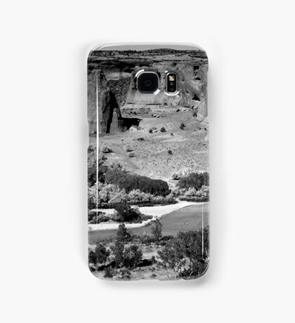 Water in Canyon De Chelly ~ Black & White Samsung Galaxy Case/Skin