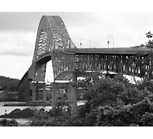 Bridge of the Americas - Black & White Photographic Print