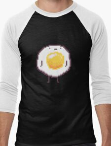 Standing Egg Pixel  Men's Baseball ¾ T-Shirt