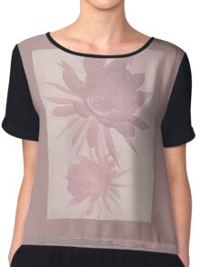 12th Doctor Negative Flower T-Shirt Chiffon Top