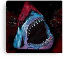 12th Doctor Galaxy Shark T-Shirt Canvas Print