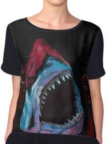 12th Doctor Galaxy Shark T-Shirt Women's Chiffon Top