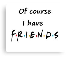 I do too have Friends Canvas Print