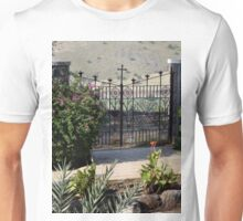 Wrought Iron Gate at Church of the Beatitudes Unisex T-Shirt
