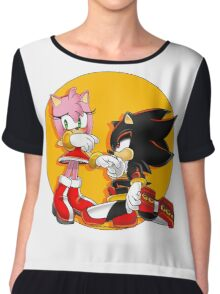 Amy Rose and Shadow Chiffon Top