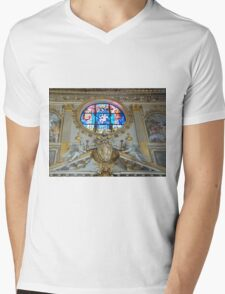 Statues and Stained Glass Mens V-Neck T-Shirt
