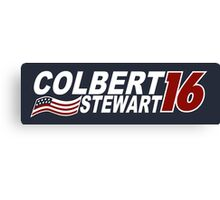 Colbert & Stewart 2016 Election Canvas Print