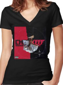 Chief Keef - Sorry 4 The Weight Women's Fitted V-Neck T-Shirt
